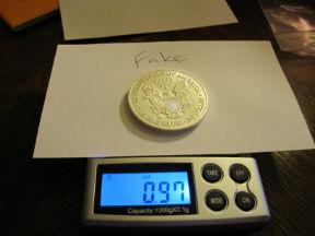 fake silver coin