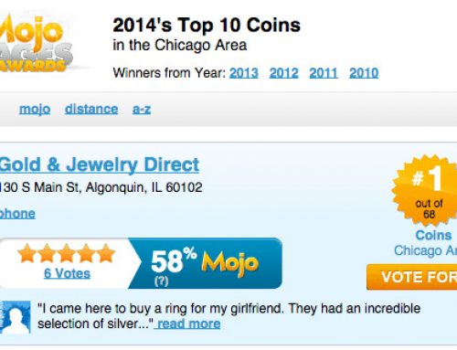 Voted #1 Coin Shop in Chicago!